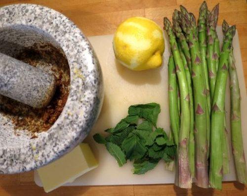 Couscous Lachs mit Senf-Minze Spargel_2