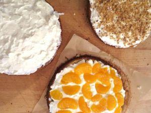 Mandarinen-Krokant Torte ohne Gelatine3
