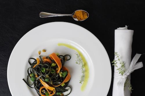 Möhren Kurkuma Pasta Hauptspeise