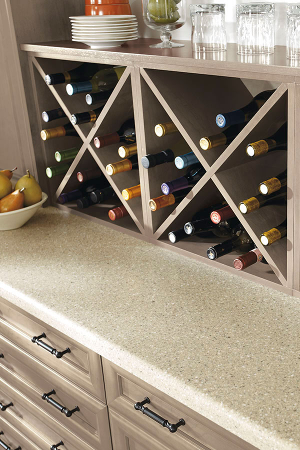 Wall Wine Storage Cabinet Kitchen Craft Cabinetry