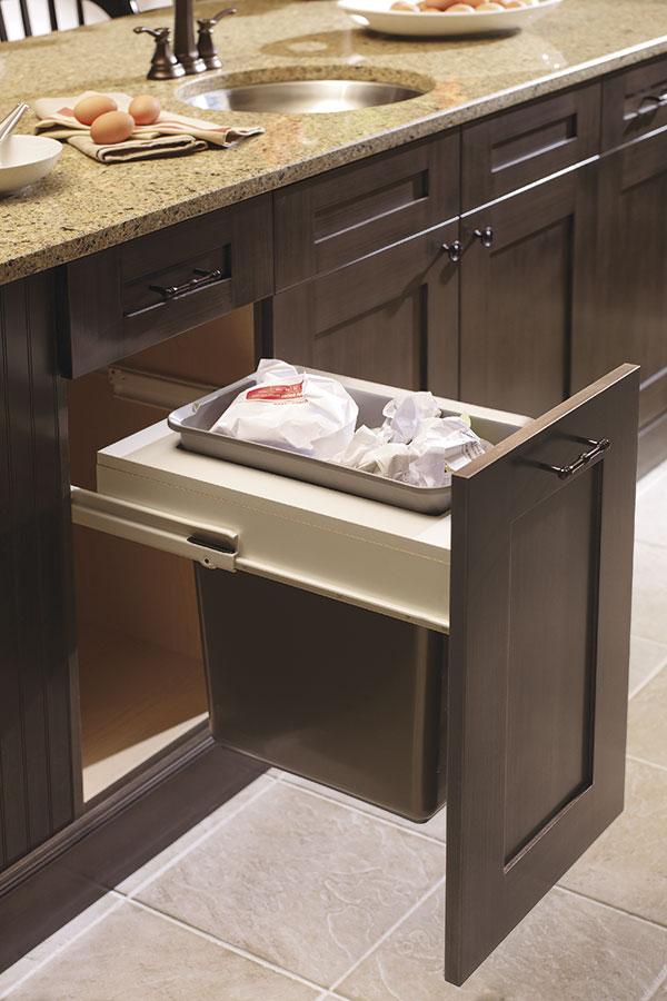 Base Wastebasket Cabinet With Single Bin Kitchen Craft