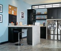Laundry Room Cabinets In Black Kitchen Craft Cabinetry