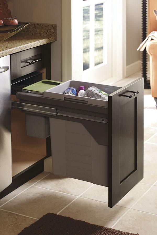 Base Wastebasket Cabinet With Compost Bin Kitchen Craft