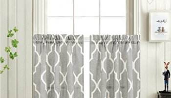 Super Moroccan Tile Printed Tier Curtains For Kitchen Modern Cafe Interior Design Ideas Clesiryabchikinfo