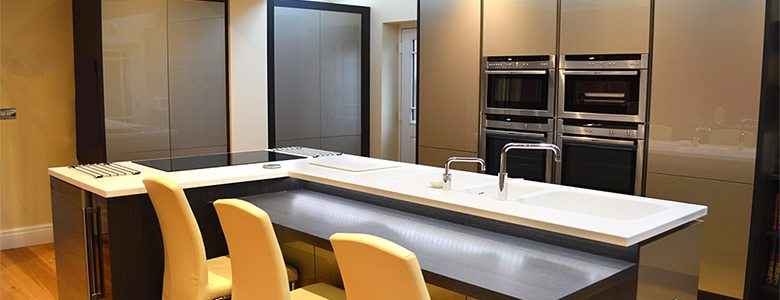 triangle shaped kitchen