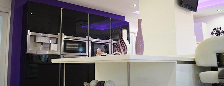 colourful designer kitchen