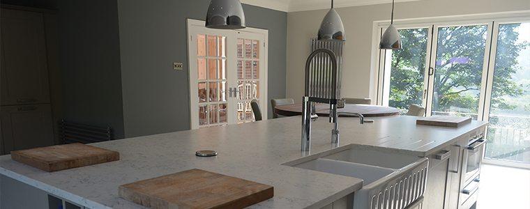 A rustic kitchen design
