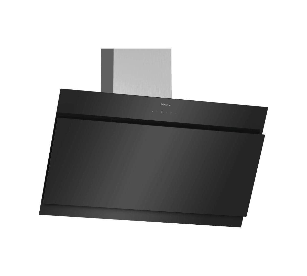 N50Wall-mounted cooker hood90 cmclear glass black printed