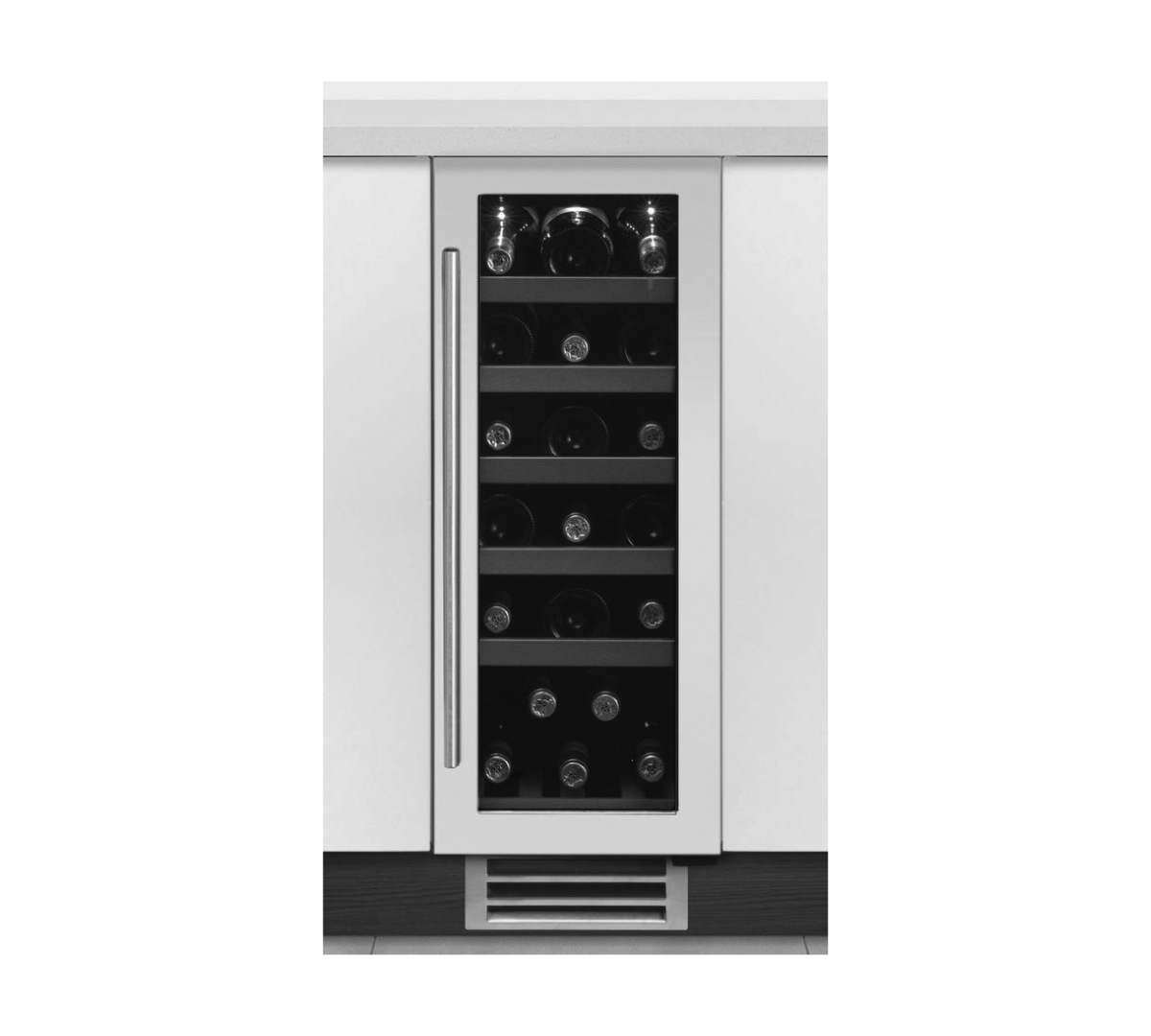 Under Counter Wine cooler in white