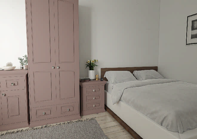 Goodwood Truematt Dusky Pink Bedroom Doors Made To Measure From Pound 3 19
