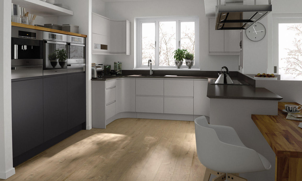 Remo Painted Bespoke Fitted Kitchens Wigan Kitchen