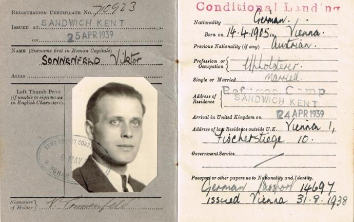 Viktor Sonnenfeld, 1939