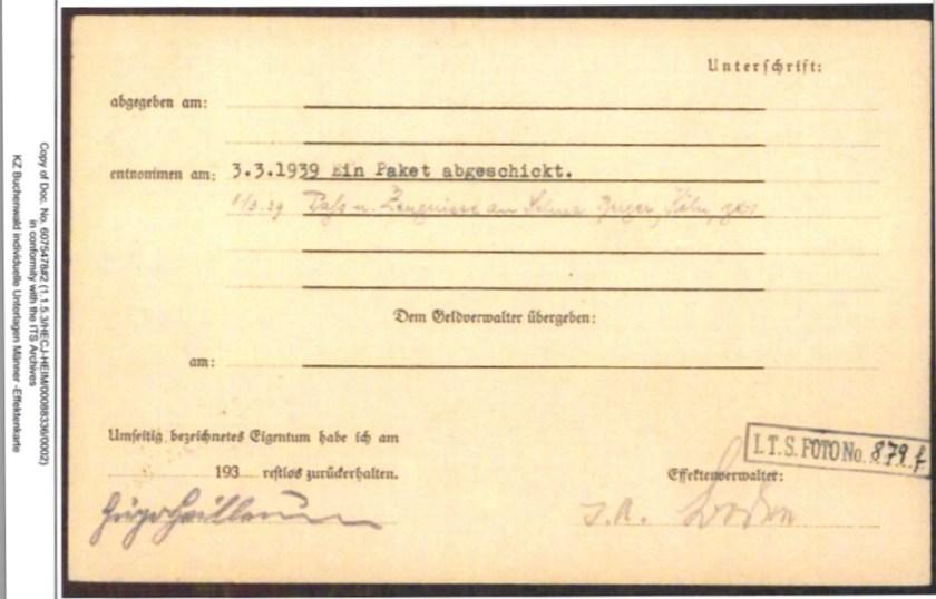 Hugo Heilbrunn, ITS file
