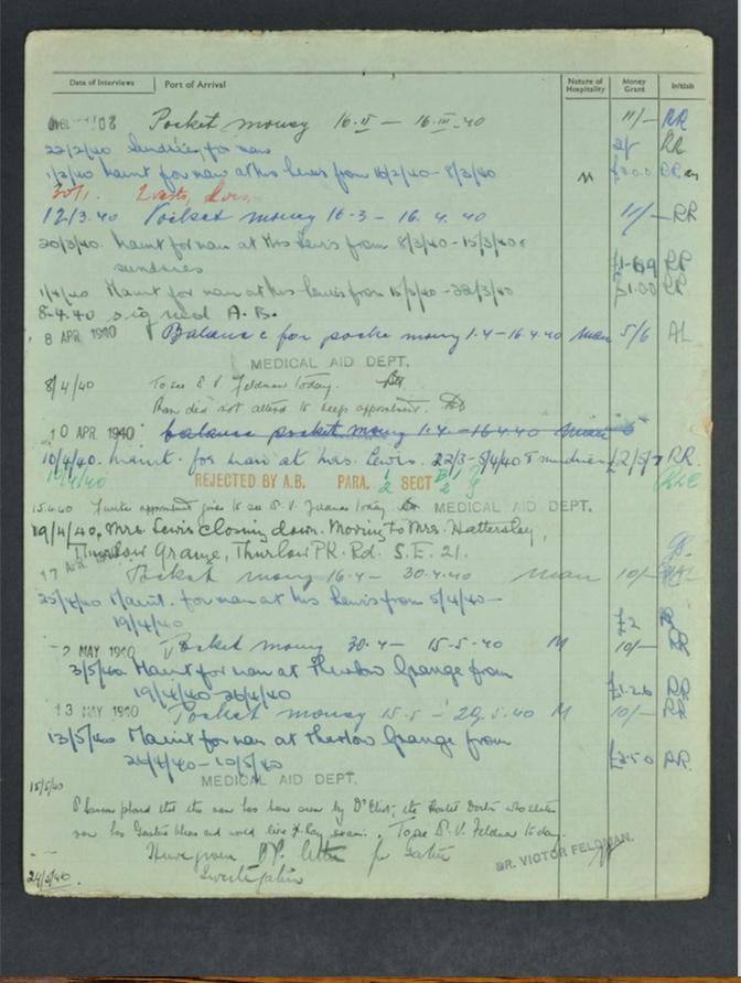 Kitchener camp, Hugo Heilbrunn, German Jewish Aid Committee form, page 2
