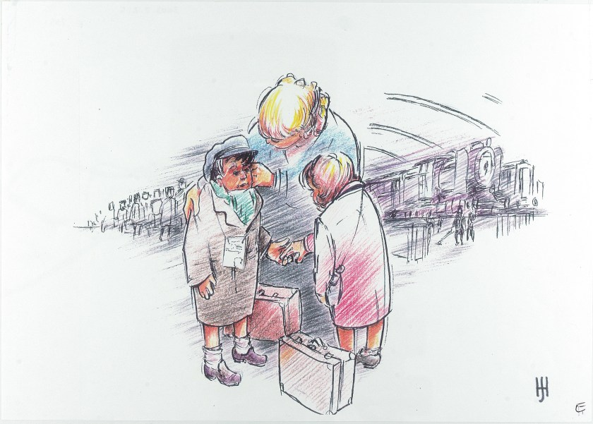 Kitchener camp, Sandwich, Kindertransport by Hans Jackson