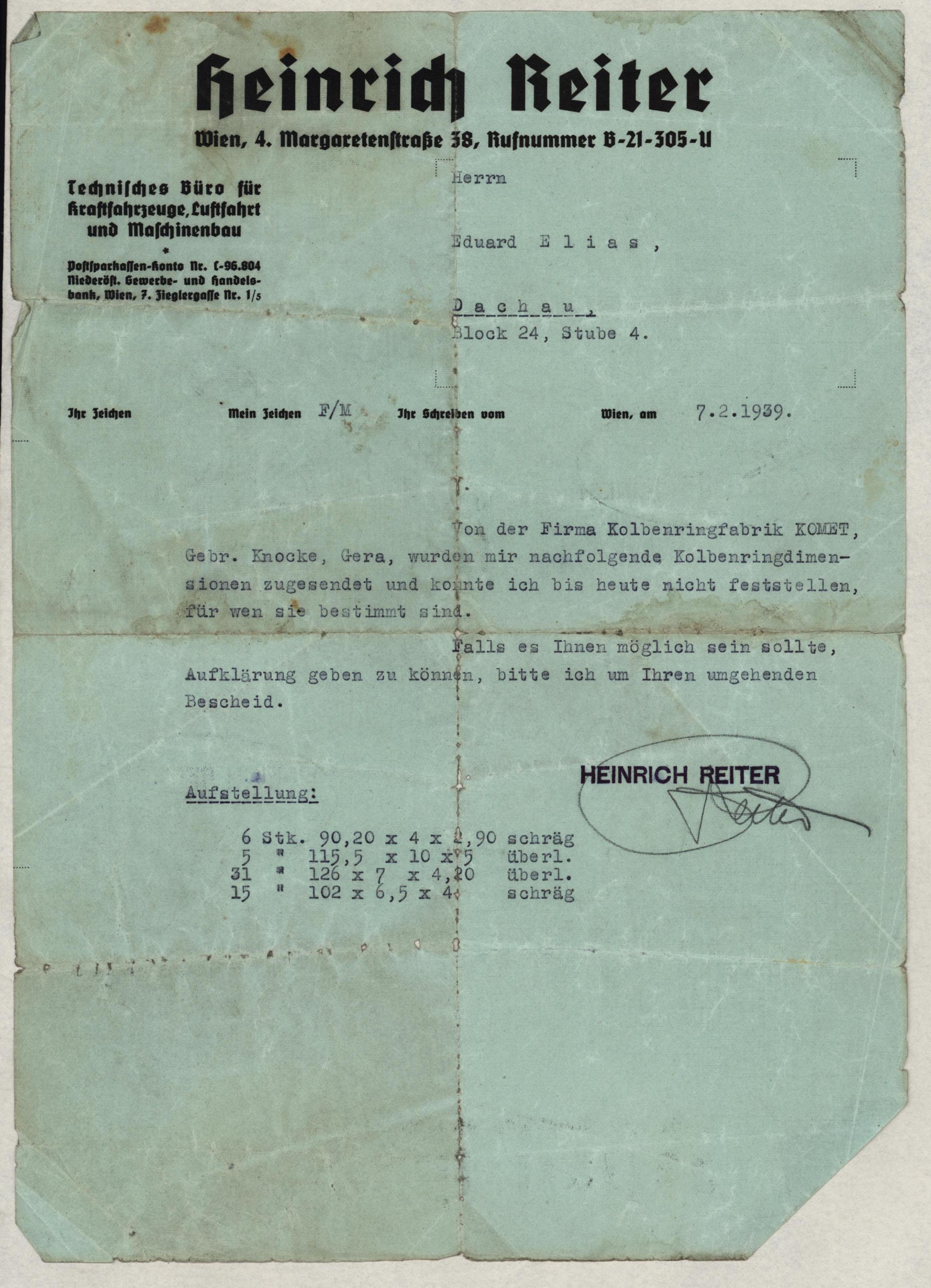 Eduard Elias – Letters – Kitchener Camp