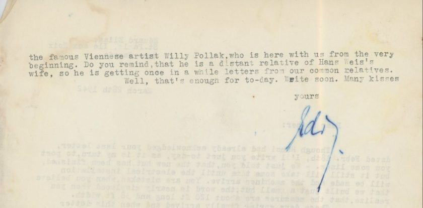 Eduard Elias, Letter, 28 March 1942, Ill aux Noix, Canada, Richborough, page 2