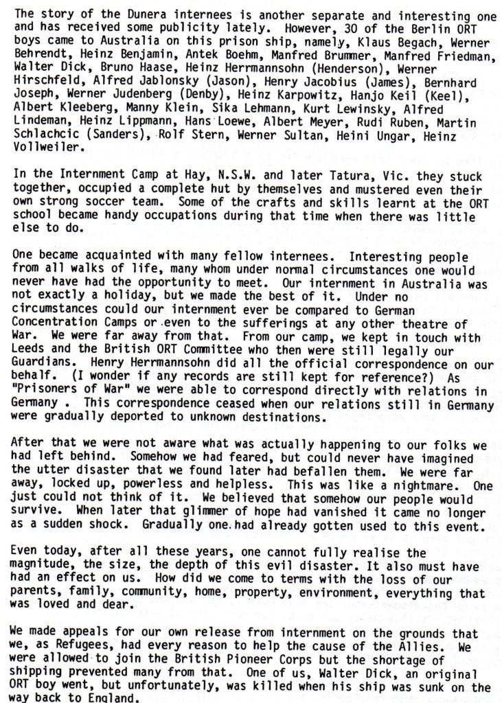 Richborough transmigratory camp, Joachim Reissner, Berlin ORT Letter, February 1983, page 2