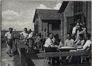 Richborough transit camp, Some Victims of the Nazi Terror, 1939 - tending the hut gardens