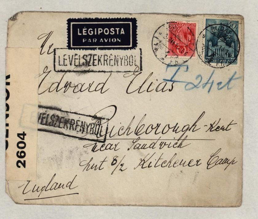 Kitchener camp, Eduard Elias, Hut 8/II
