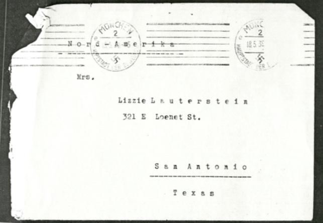 Kitchener camp, Leo Smoliansky, Envelope, 18 May 1939