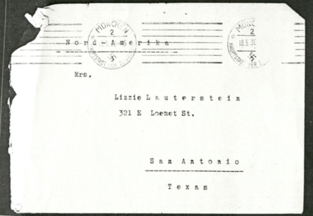 Kitchener camp, Leo Smoliansky, Envelope, 18 May 1939