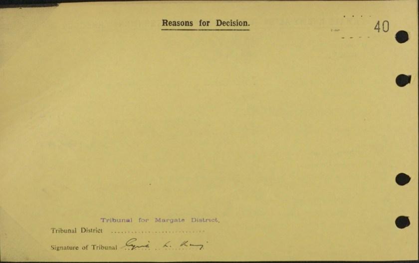 Brigitte Cohn, Exemption from internment card, reverse