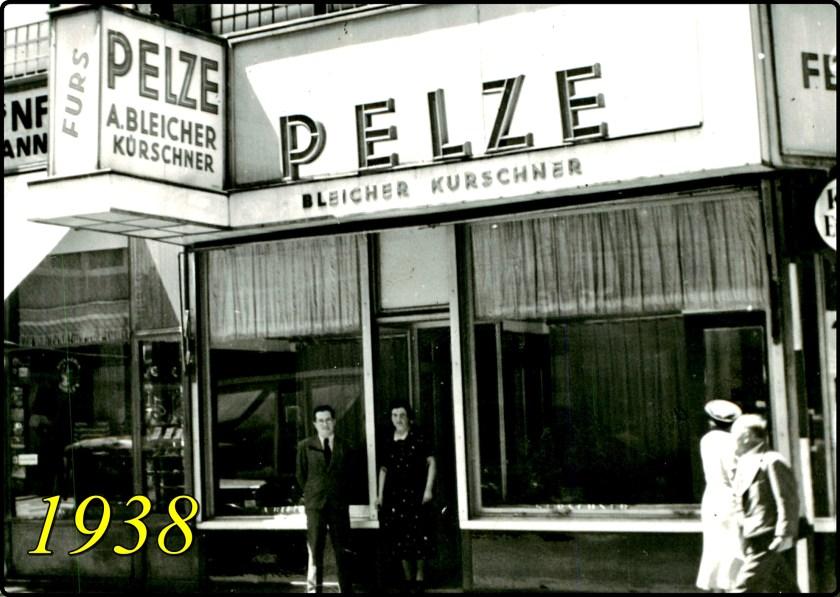 Fritz Bleicher, Furrier store in Vienna, 1938