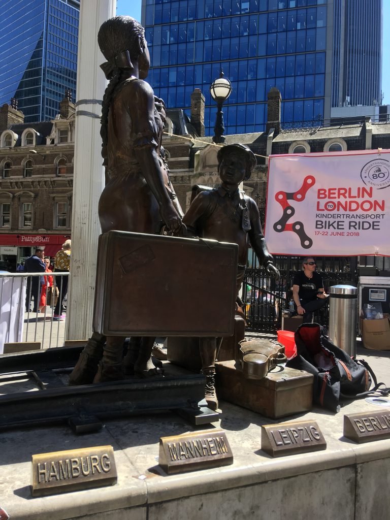 World Jewish Relief, Berlin to London 600-mile cycle commemoration Kindertransporte