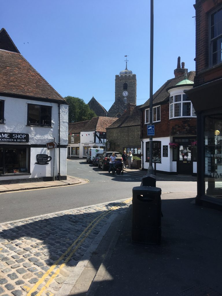 Kitchener camp, Sandwich market square - across from the Guildhall