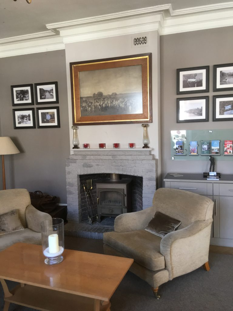Richborough transit camp, Phineas May diary, The Bell Hotel, the fireplace