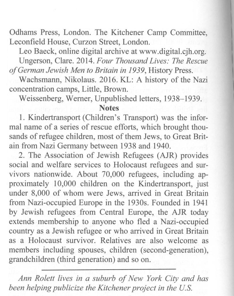 Avotaynu, Jewish Genealogy, Ann Rolett, Kitchener camp article, page 5