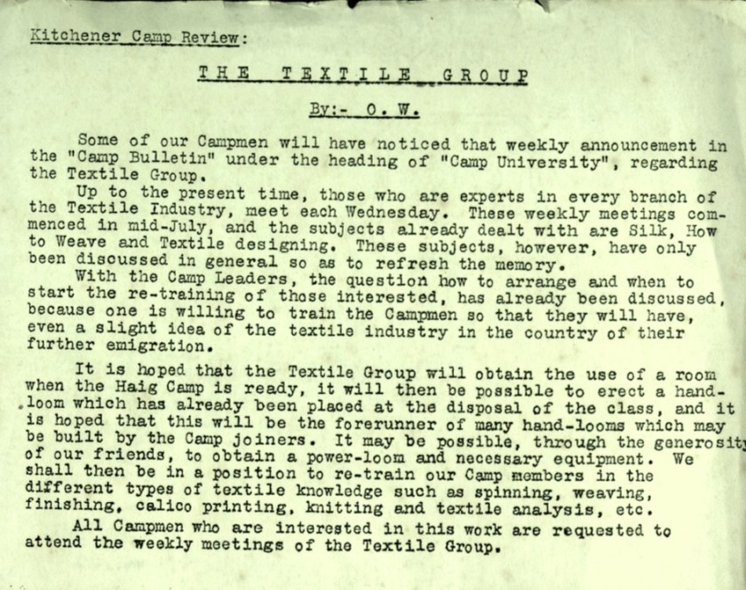 Kitchener Camp Review, no. 7, September 1939, page 1, top