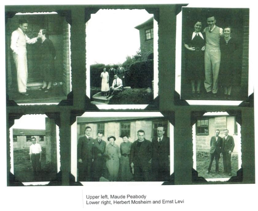 Richborough transit camp, family album, Herbert Mosheim, Ernst Levi, Maude Peabody