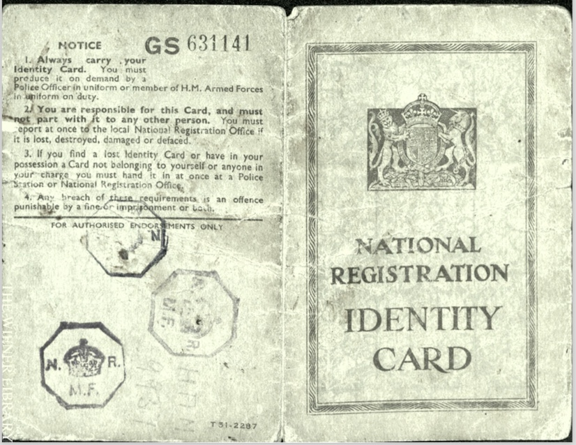 Kitchener camp, Wolfgang Priester, National Registration Identity Card