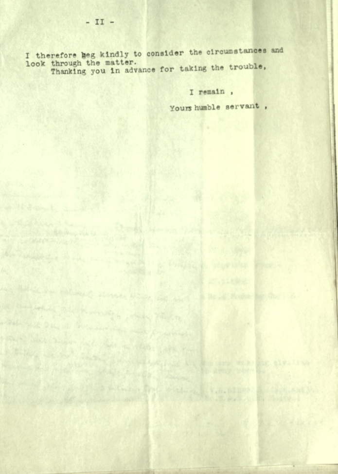 Wolfgang Priester, Pioneer Corps, Army Punishment, Letter 14 November 1940, page 2