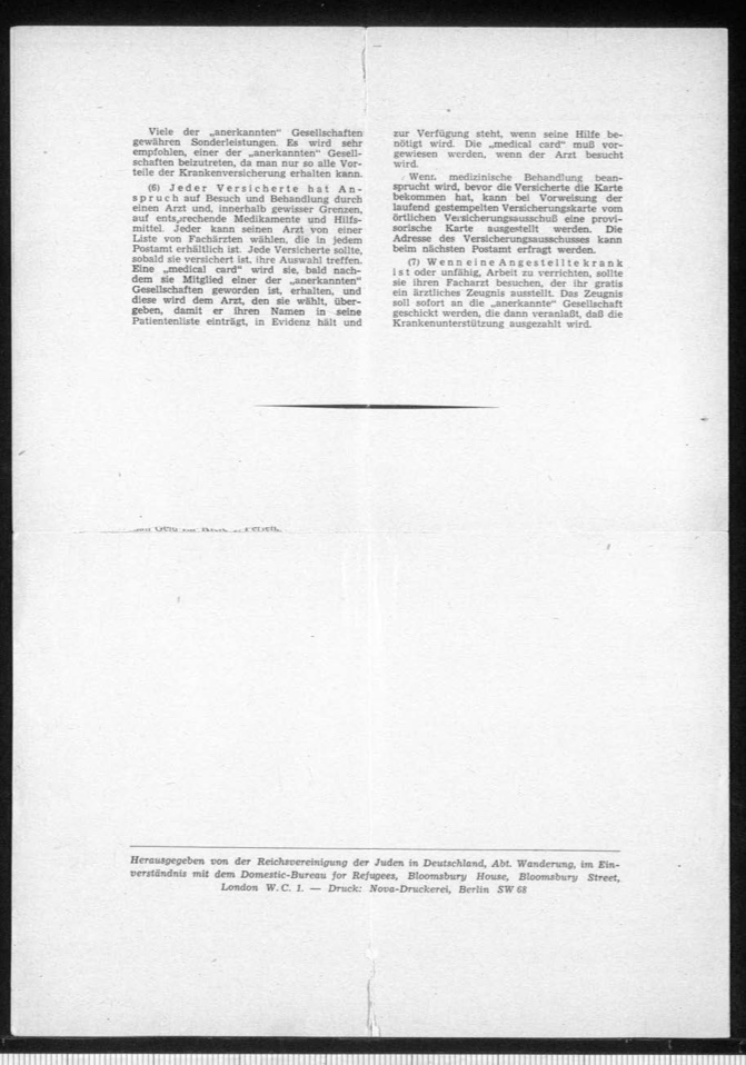 Kitchener camp, Document, Hut 36/II, Werner Gembicki, Wife Vera, Domestic Service Visa, Als Hausangestelte in England, page 4