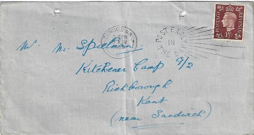 Kitchener camp, Manele Spielmann, Envelope