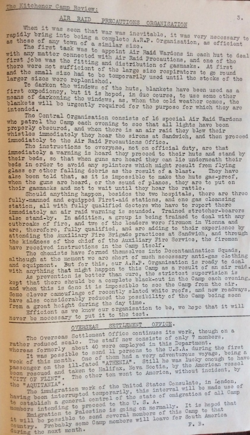 Kitchener Camp Review, October 1939, page 3