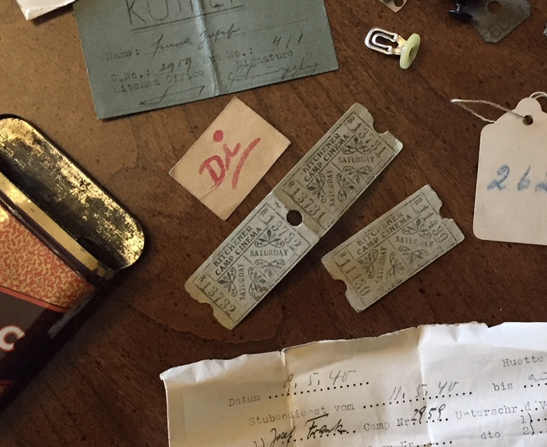 Kitchener camp, Josef Frank, Items in cigarette tin, 1939 – Di - Dienstag (Tuesday)