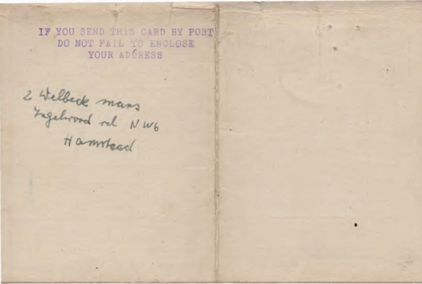 Kitchener camp, Willi Reissner, Record of Service, Pioneer Corps, Bournemouth, 5 December 1939 to 14 June 1946, page 2
