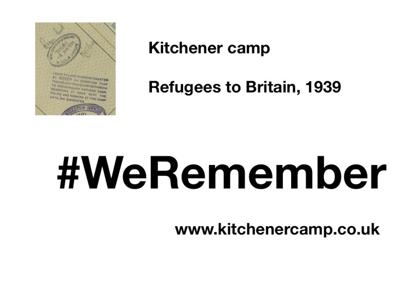 Kitchener Camp refugees 2019 #WeRemember Campaign