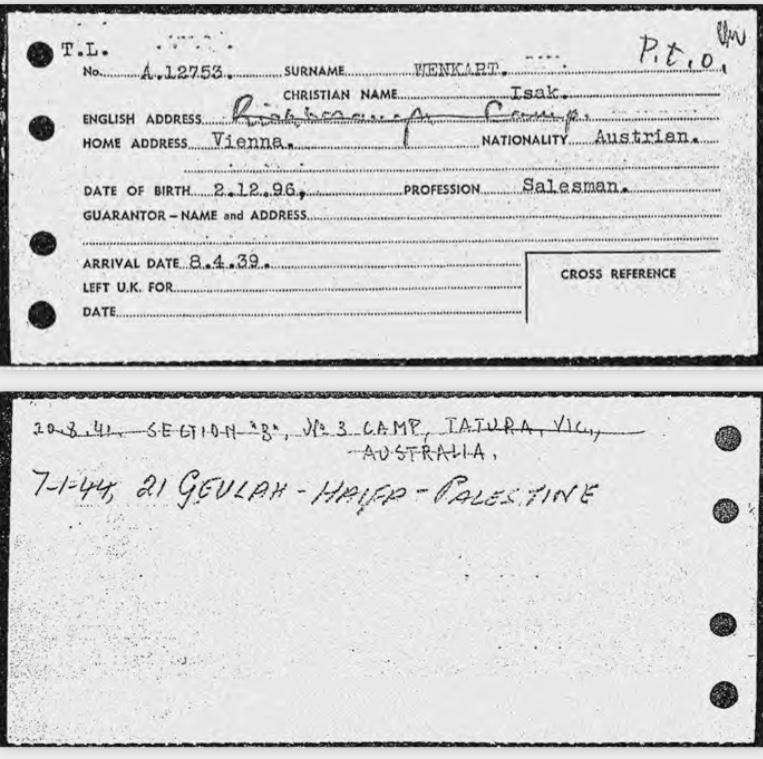Isak Wenkart – Docs | Kitchener Camp