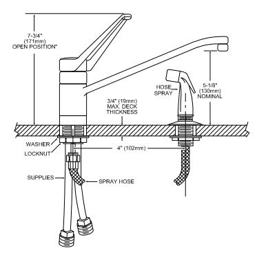 moen single handle kitchen faucet