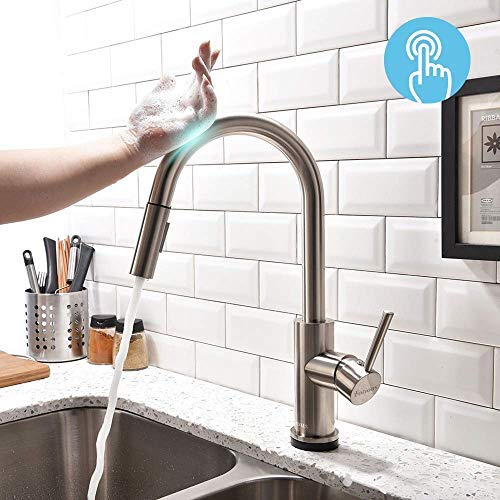 Spot Resist Kitchen Faucet With Pull Out Sprayer Single Hole And 3 Hole Deck Mount 3 Mode Single Handle Oil Rubbed Bronze Easy To Install Touchless Kitchen Sink Faucets With Pull Down Sprayer Touchless Kitchen