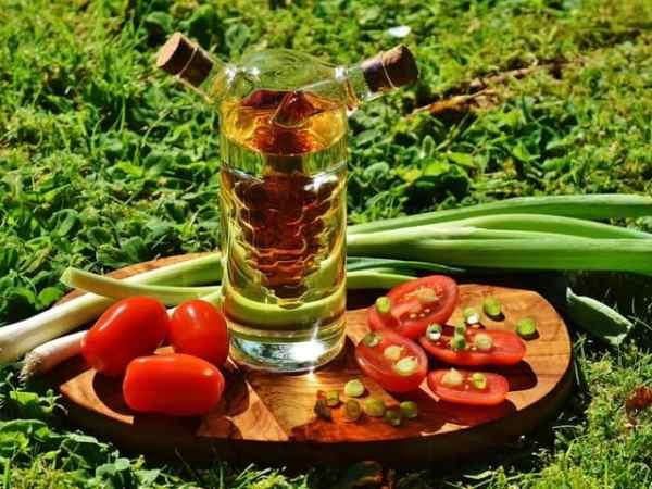 Ölflasche Gemüse