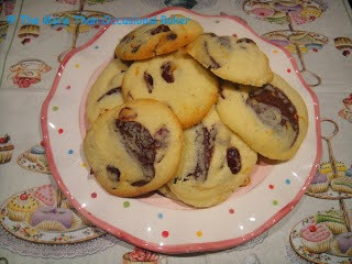 chocolate, orange and cranberry cookies