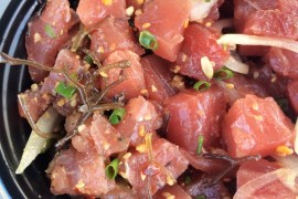 poke from Nico's at Pier 38 in Oahu, Hawaii