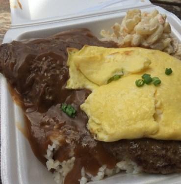 loco moco from Tita's Grill in Oahu, Hawaii