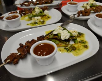 Weber Grill Academy plated meal